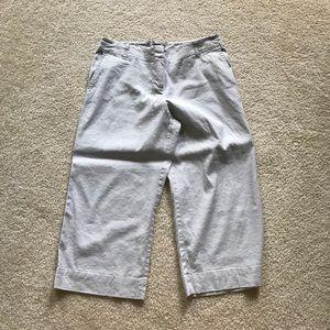 J. Jill stretch linen cropped pants